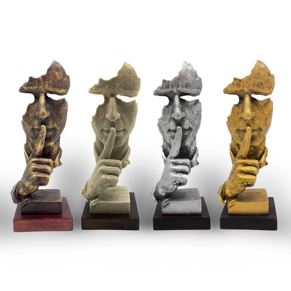 Free shipping decorative craft resin figure statue for Art decoration for home