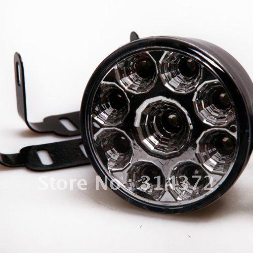 2X Superflux 9 LED Car Auto DRL Daytime Running Day Driving Fog Light Lamp White