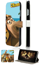 Stand Mobile Phone Bags Madagascar 2 Card Slot Luxury Leather Flip Case Cover For Iphone4 4S Free Shipping