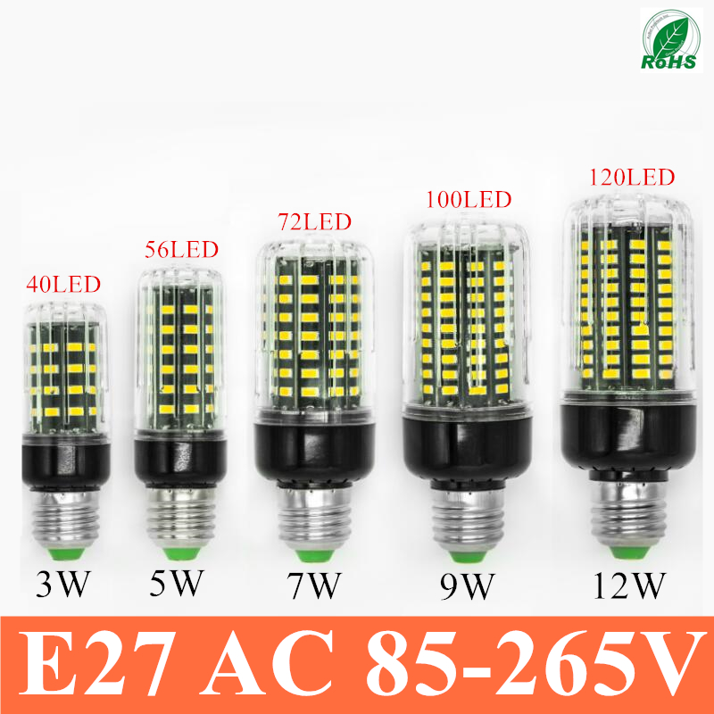 Hight power LED lamp corn Bulb 3W 5W 7W 9W 12W 15W SMD5736 E27/E14 LED light 360 degrees Beam Angle spotlight lamps bulb(China (Mainland))
