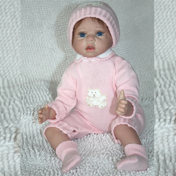 22 Inch Reborn Babies Realistic Newborn Baby Doll Collectible Girl Dolls Soft Silicone Real Looking Baby Dolls(China (Mainland))