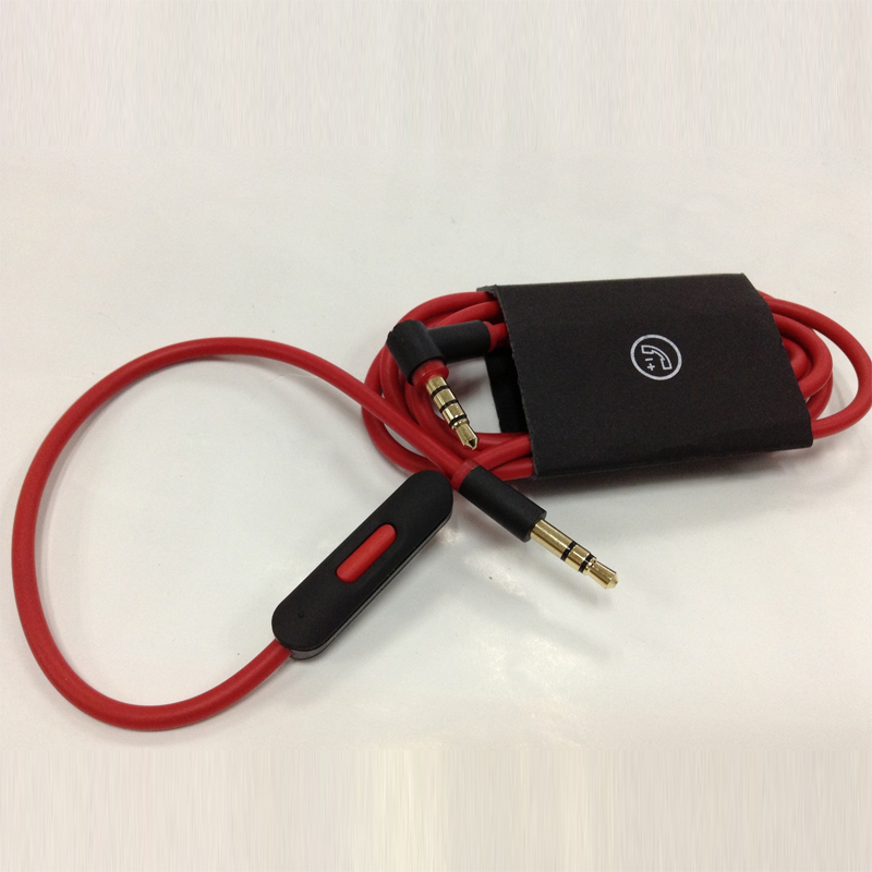 1.3m 3.5mm AUX Audio Cable With mic microphone and volume adjustment For beats headphone for apple iphone 6 6s plus 5 5s 4 4s(China (Mainland))