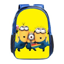 2015 New Fashion Despicable Me 2 Kids Cartoon bags child Backpack boy Minions schoolbag mochila children quality school bag(China (Mainland))