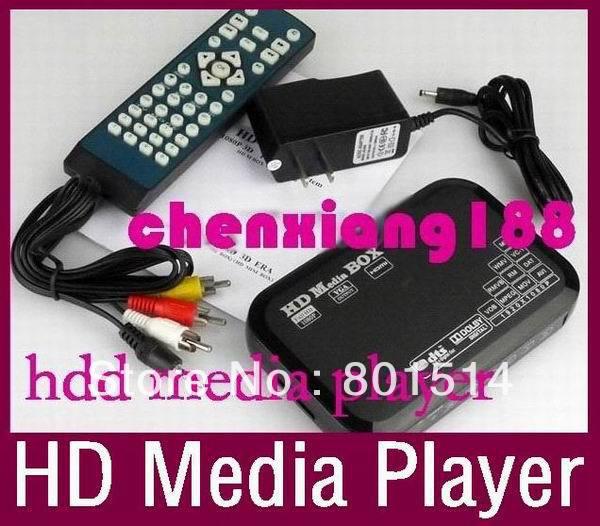 HDD Players 1080P full multimedia player support Blueray hdmi, vga, mkv hdd media player(China (Mainland))