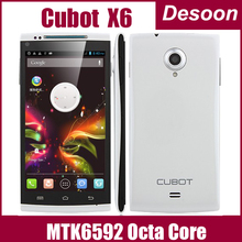 Original Phone Octa Core Cubot X6 MTK6592 5.0Inch OGS IPS Screen 1GB RAM MTK6592 1.7Ghz Android4.2 13mp Dual SIM Cark OTG /Linda(China (Mainland))