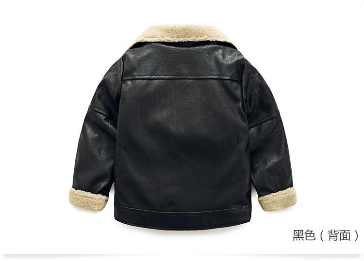 Скидки на Новый мальчик ребенок молния кожа 2016 зима Корея детская одежда детская лацканы и флисовые куртки wt-6701