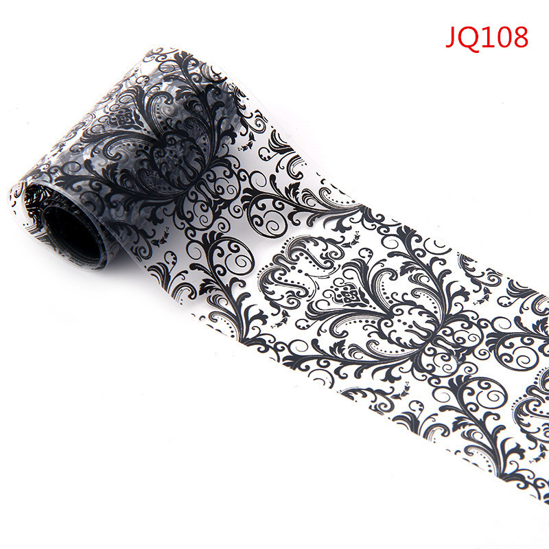 Beauty Black Lace Transfer Foil Nail Sticker  Nail Decals DIY Wraps Manicure Tools French Tips Free Shipping