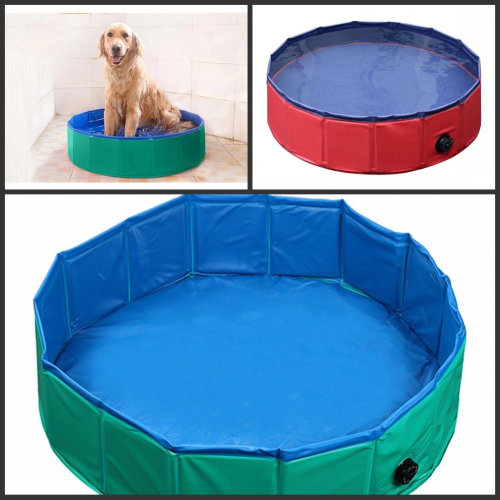 80cm 32inch 120cm 47inch diameter foldable pet swimming for Swimming pool 120 cm tief