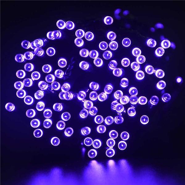 Здесь можно купить  4 sets/lot Purple color lederTEK Solar Christmas Lights 72ft 22m 200 LED 8 Modes Solar Fairy String Lights for Halloween Lights   Свет и освещение