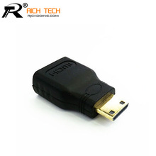 Micro HDMI Plug to HDMI Jack Connector HDMI adaptors for HDTV output/input HDMI cable/HD players computers projectors connector(China (Mainland))
