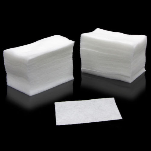 1Pack of 100pcs White Nail Art Wipes UV Gel Nail Polish Remover Cleaner Wipe Cotton Lint(China (Mainland))