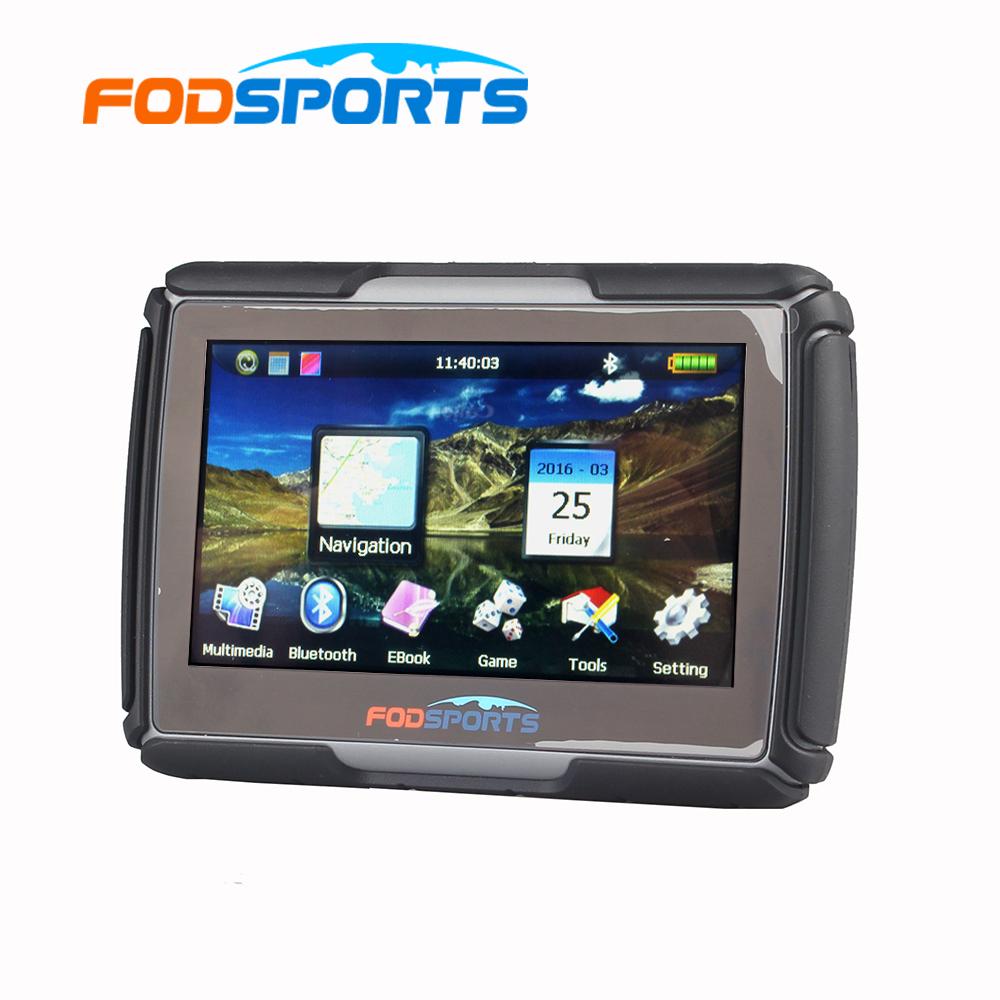 8GB 4.3 Inch Updated Version Moto Navigator Motorcycle Navigation Waterproof GPS Free Maps(China (Mainland))