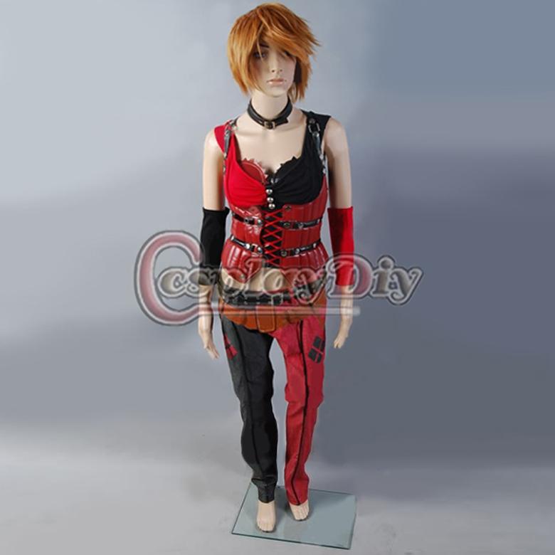 Custom Made Batman Arkham Asylum Harley Quinn Cosplay Movie Cosplay Costume