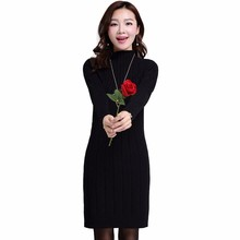 Buy 2017 Autumn Winter vestidos dress Women Slim Dress Collar Knitting Long Sweater Dresses Long Sleeve Turtleneck dresses Bodycon for $14.07 in AliExpress store