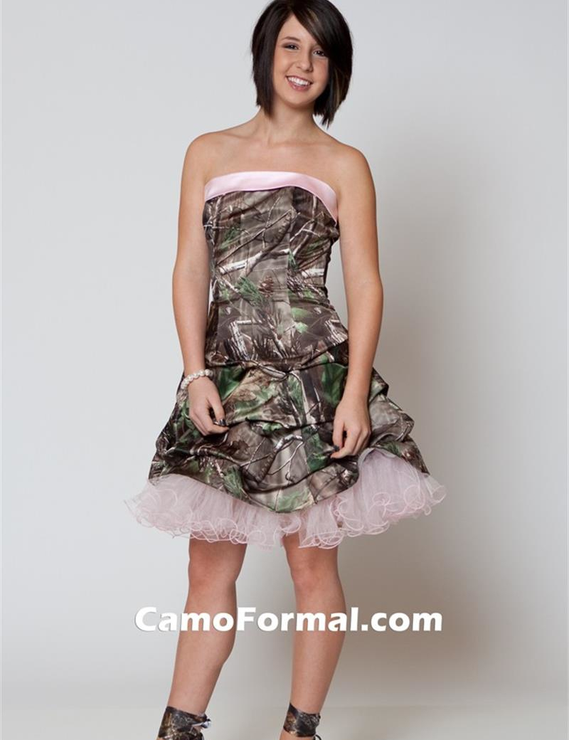 Cheap Camouflage Prom Dresses