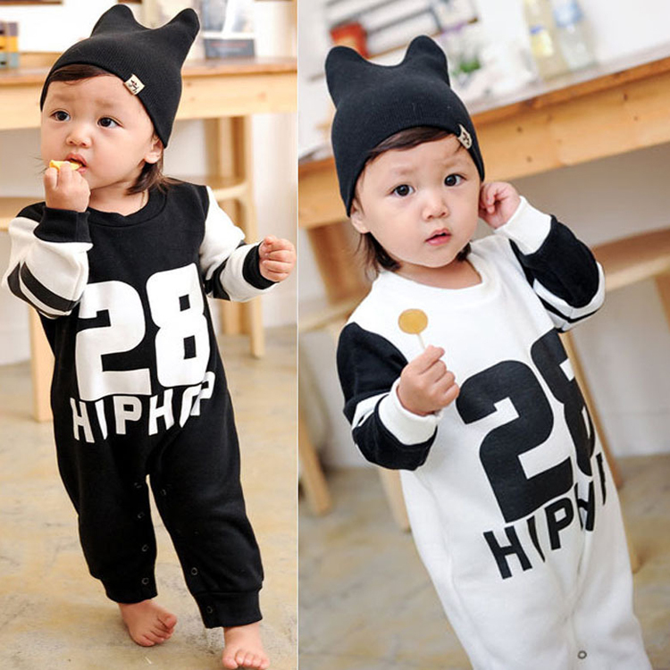 Baby Rompers baby girl/boy romper long sleeve one-piece jumpsuit infant clothes letter print newborn clothing combinaison HB139 - Qocean store