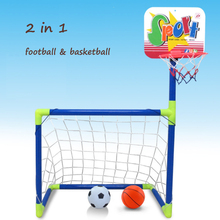 2 in 1 Removable assembly football Children Soccer Goal Indoor and outdoor toy Educational Fitness Toys Basketball Bracket Combo(China (Mainland))