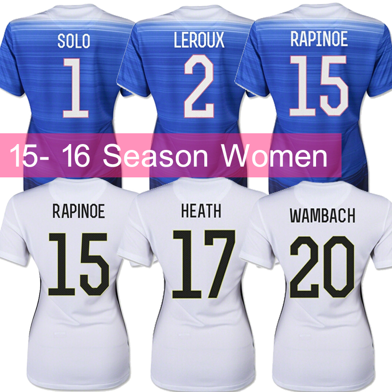 Soccer Jerseys 2015 USA Jersey Thai 15/16 YEDLIN DEMPSEY BRADLEY White Blue USA 15 16 Women Shirt 2016 Home Away Player Version(China (Mainland))