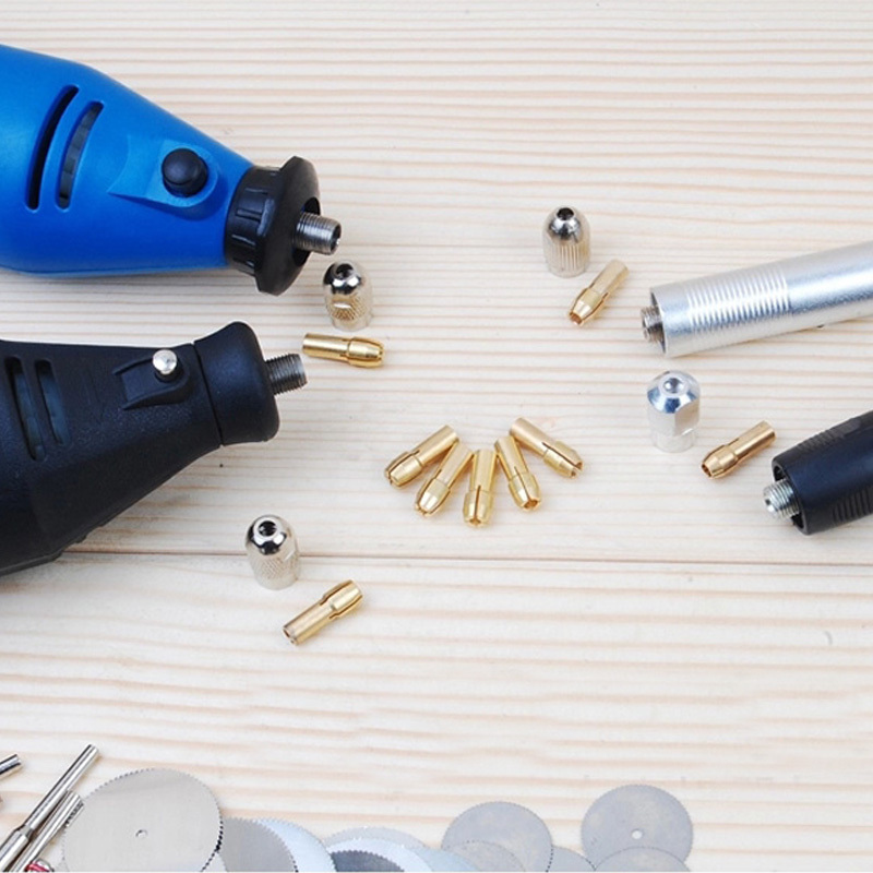 Hot New Practical 8pcs Set Brass Collet Include 1mm 1 6mm 2 3mm 3 2mm Rotary
