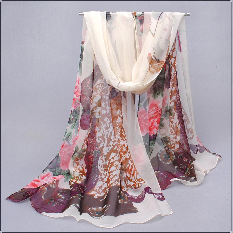 2016 New Fashion Scarf Women Printing scarf Silk Chiffon Spring Autumn Scarf bandana shawl foulards femme Wrap silk scarf FQ052(China (Mainland))