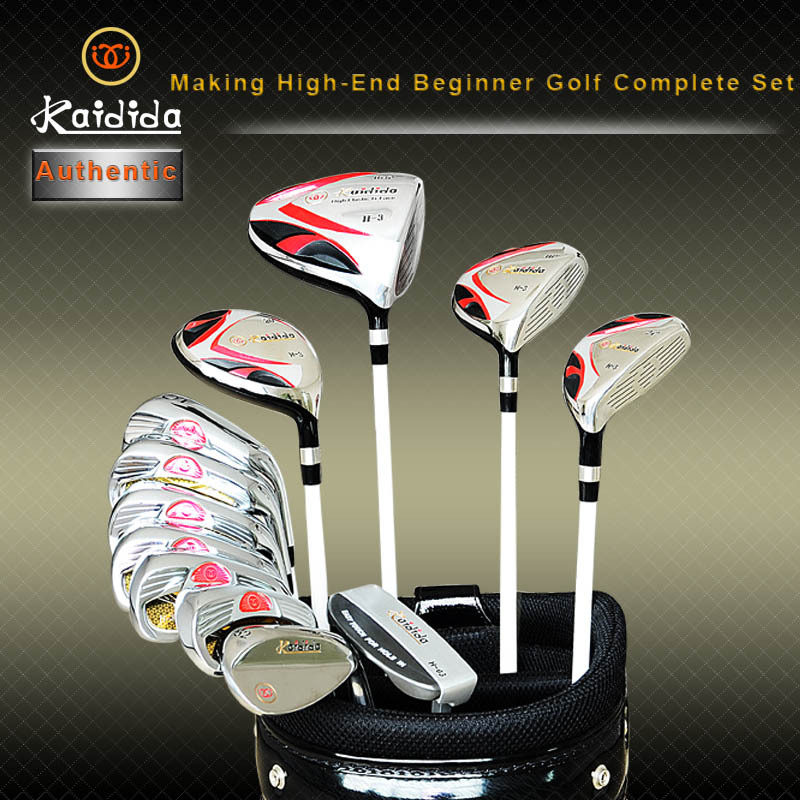 Authentic Kaidida golf set with 12 pcs clubs + golf standard bag complete golf sets for men golf complete set with bag(China (Mainland))