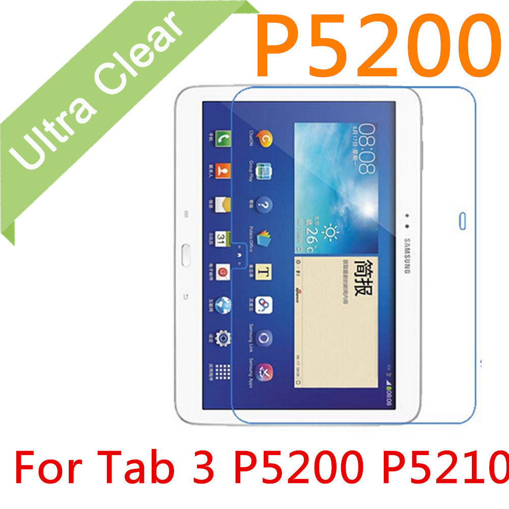 "P5200 2pcs 0.15mm Ultrathin Clear HD Screen Protector For Samsung Galaxy Tab 3 P5200 P5210 10.1"" LCD Film Cover + Cleaning Cloth(China (Mainland))"