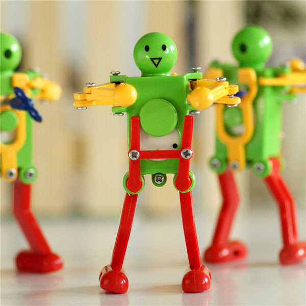 Interesting Wind Up Dancing Clockwork Robot Tin Toy Creative Gift Mechanical Clockwork Robot Kids toys(China (Mainland))