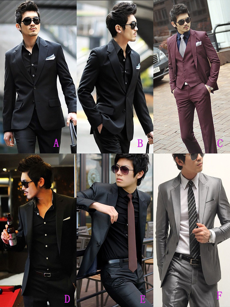 7-Free Shipping New 2015 man suit classic Fashion grooms man suits! Men's Blazer Business Slim Clothing Suit And Pants