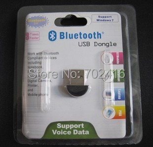 Free shipping 50pcs/lot MINI bluetooth adapter ,bluetooth adapter V2.0 EDR ,USB 2.0 adapter 10Meters distance with packing
