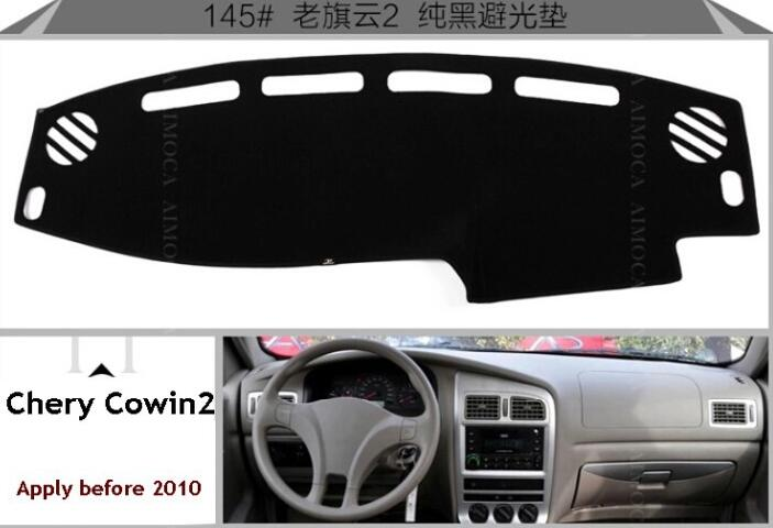 Chery fulwin cars special,Dashboard car insulation pad, insulation, avoid reflective, black polyester car styling Free shipping(China (Mainland))
