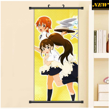 45X95CM Working! Wagnaria Taneshima Popura Inami Mahiru Cartoon Anime art wall picture mural poster cloth scroll canvas painting