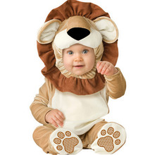 New born Baby  Navidad halloween Lion Dinosaur costume baby animal romper toddler boys jumpsuits clothing set  Girls Clothes