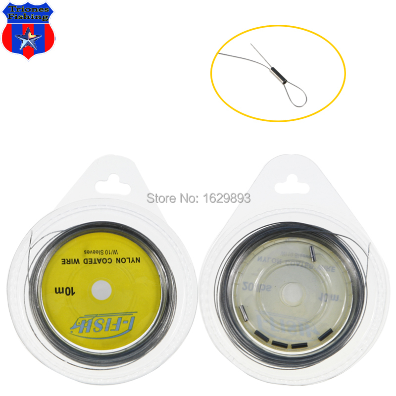 Boxed 10M nylon coating Stainless Steel Wire fishing line Free shopping(China (Mainland))
