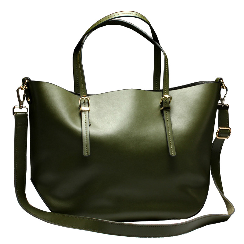 Фотография Women leather handbags soft 100% Genuine Leather Composite Bag Women Famous Brand Cowhide Real Leather Women