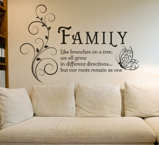 Family home quote rules vinyl wall art sticker mural decal home - Wall Art Decals Family Quotes Family Painted On Wall
