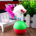 1pcs Cat Tumbler Toys Funny Fun PlasticTraining Feather Mouse Tumbler Ball Cat Toy Mouse Pet Toys