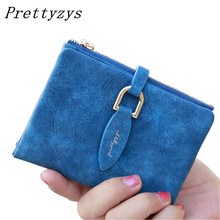 Buy Prettyzys Lady Snap Fastener Short Clutch Wallet Vintage Matte Women Wallet Fashion Small Female Purse short Coin Card Holder for $6.63 in AliExpress store