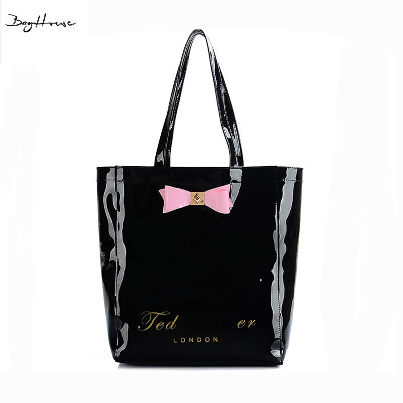 High Fashion UK Designer Female Jelly Top-handle bags Ted 2016 Summer brand Cute big tote Shoulder bags for beach BAKER(China (Mainland))