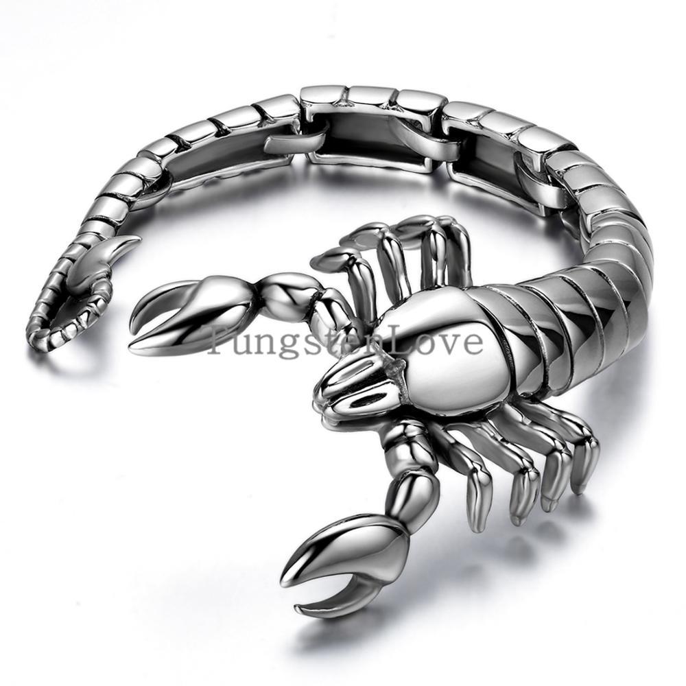 "9"" Scorpion Animal bracelet 316L Stainless Steel Mens Boys Chain Bangle Bracelet Wholesale Jewelry Halloween Christmas Gift(China (Mainland))"