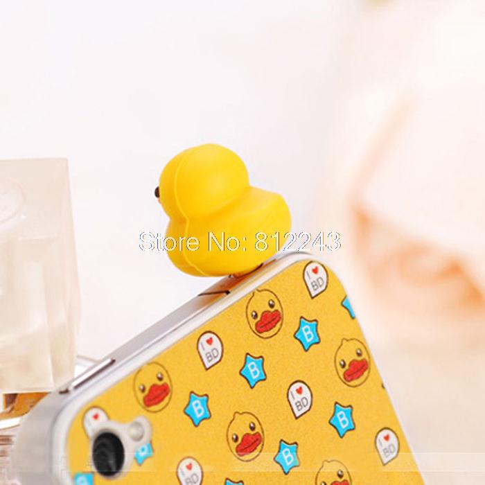 Yellow Duck Style Cute Dust Plug Phone Accessories 3.5mm Headphone Dust Plugs Earphone Jack Plug 21025