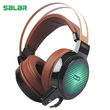 Buy Salar C13 Wired Gaming Headset Deep Bass Game Earphone Computer headphones microphone led light headphones computer pc for $20.59 in AliExpress store