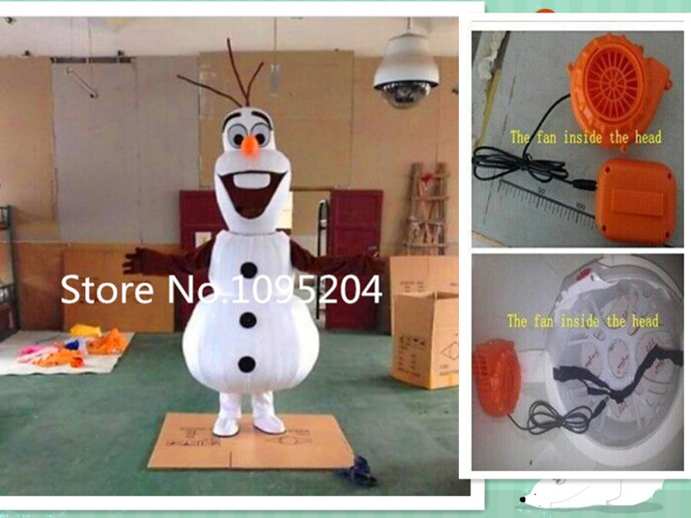 Smiling  Olaf Mascot Costume cartoon character costume Free Shipping send you a fanОдежда и ак�е��уары<br><br><br>Aliexpress