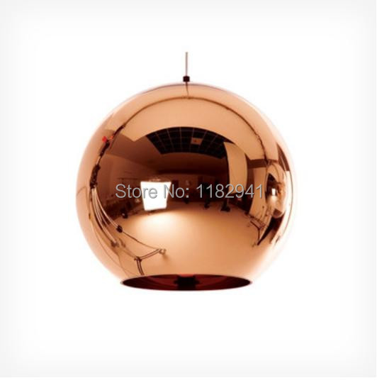 Free shipping 4PCS/lot Tom Dixon glass Bronze Copper mirror shade Ball pendant lamp Dia 15cm(China (Mainland))
