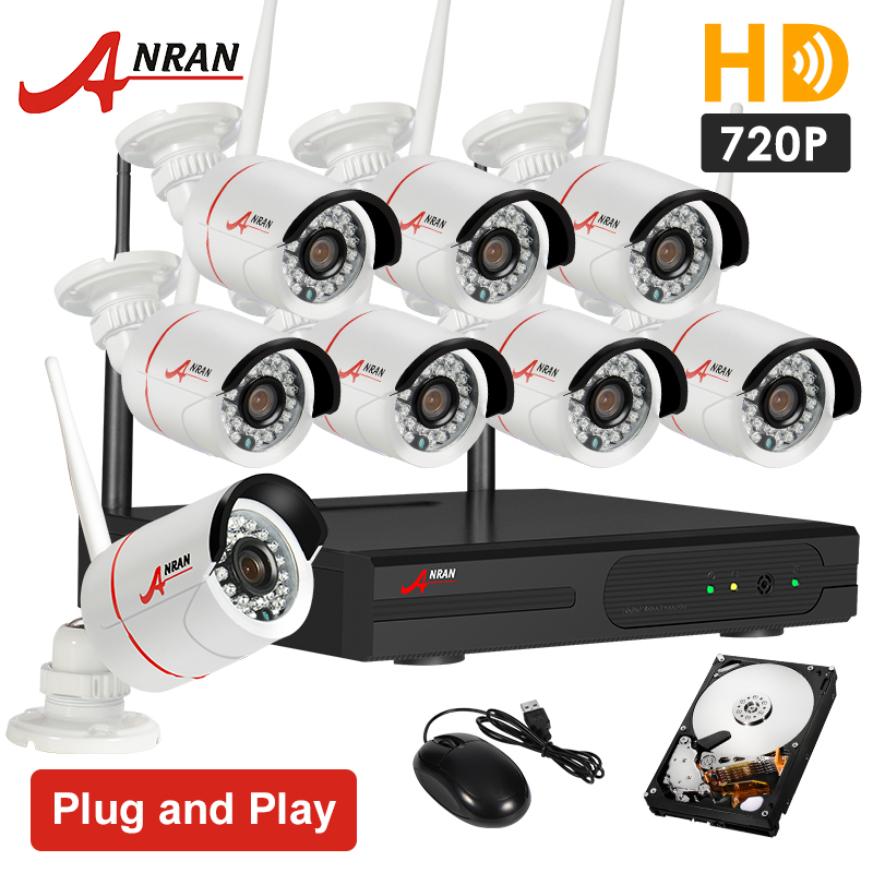 Plug and Play HD 720P 8CH Wireless CCTV Security Camera System 2TB HDD Outdoor Waterproof Infrared WIFI Surveillance Kit(China (Mainland))