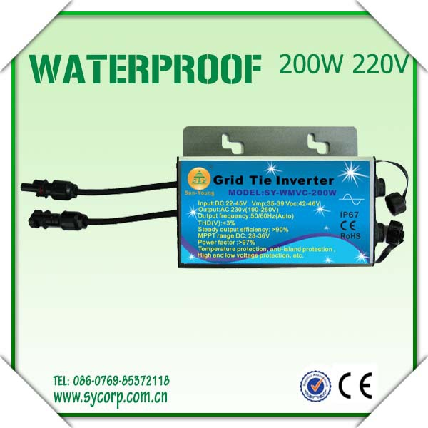 Wechselrichter 300w Waterproof Grid Tie Inverter Dc22-50v To Ac220v Pure Sine Wave Inverter Ce