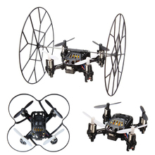 2.4G 4 Channels 6 Axis Gyro RC Quadcopter 3D Fly Drones LED Mini Helicopter Toys Black & White Colors remote control helicoptero
