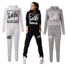 Women Sports Suit Casual Sweatshirt Track & Sweat Tracksuit Long Sleeve Hoodie Playsuits(China (Mainland))