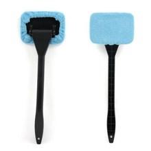 R1B1 Microfiber Auto Window Cleaner Long Handle Car Wash Brush Dust Car Care Windshield Shine Towel Handy Washable Free Shipping(China (Mainland))