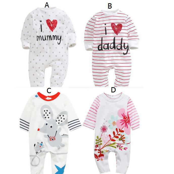 baby jumpsuit 2016 Boys Girls Autumn long-sleeved striped cotton pants roupa bebe(China (Mainland))