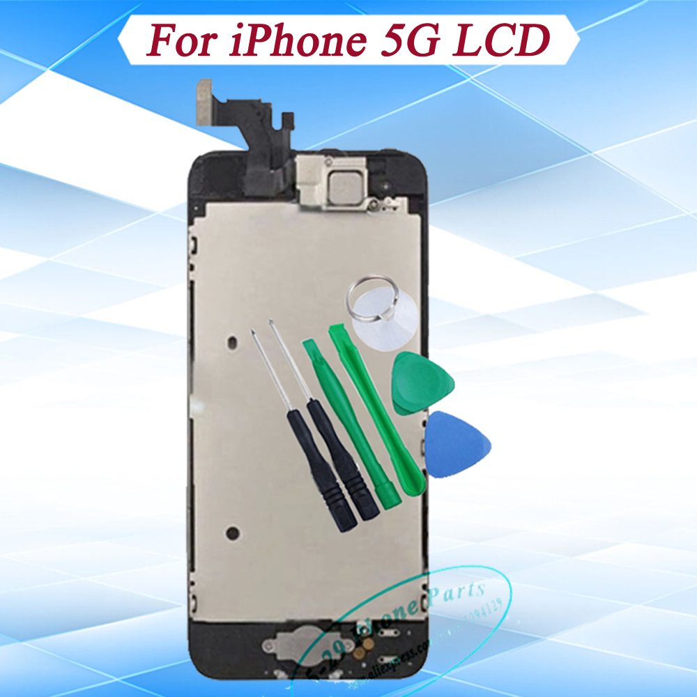 Black White AAA Full Front Touch Screen Digitizer LCD Display Repair Assembly iPhone 5 - 5-29 Phone Parts store